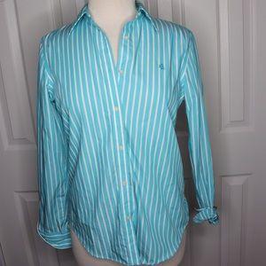 Lauren Ralph Lauren Blue & White Striped Shirt S